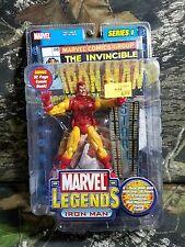 NIB SEALED Marvel Legends Iron Man Series I 1 Yellow Suit Figure ToyBiz AG 3AH