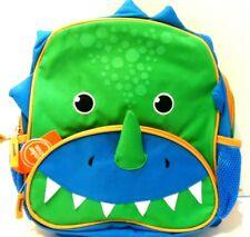 "Wonder Nation Preschool 12"" Dino Critter Backpack Green/Blue w/tags"