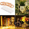 6Pack 2M 20 LED Battery Micro Rice Wire Copper Fairy String Lights Party Decor