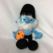 "Papa Smurf Black Blue Pumpkin Plush Soft Toy Stuffed 11"" Kellytoy 2013 Peyo"