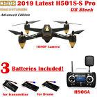 Hubsan H501S S Pro X4 Drone W/ FPV GPS Brushless 1080P Camera RTH RTF,3 Battery