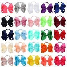 25 Pcs/set Cute Solid Color Grosgrain Ribbon Hair Bows For Kids Girls Headband