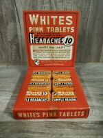 Vintage Whites Pink Tablets Store Display 12 Tins Rare NEW