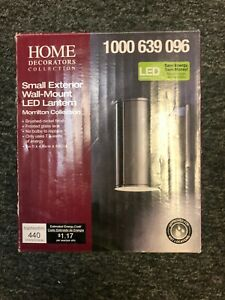 Brushed nickel outdoor led wall lantern sconce