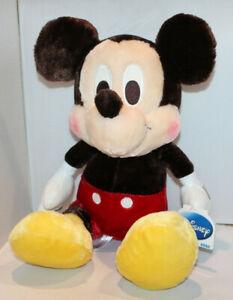 "Disney SEGA 18"" Mickey Mouse plush stuffed animal with brown body w/ tags"