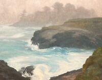 California Mendocino Coast Seascape Impressionism Landscape Art Oil Painting
