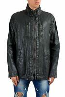 John Varvatos Men's 100% Linen Coated Full Zip Windbreaker Jacket US XL IT 54