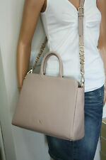 "AIGNER Tasche ""ABBY"" Leather Bag Leder stone grey"