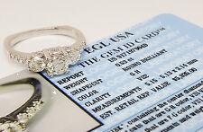 A.JAFFE 1.21 ct 18K Three-Stone Round Diamond Engagement Ring EGL Rtl $5,935