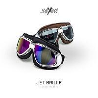 SOXON SG-301 JET-BRILLE FLIEGER-BRILLE BIKER-BRILLE MOTORRAD GOGGLES SP-301