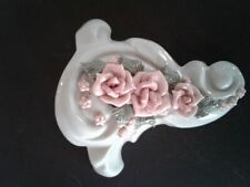 Porcelain Rose Wall Sconces (2) A Pair Excellent Condition