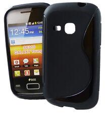 Rubber Case Wave für Samsung S6310 Galaxy Young in schwarz Handyhülle Cover