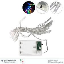 20 Luci Striscia LED Luce RGB a Batteria Decorazione Filo Minilucciole 3 Metri