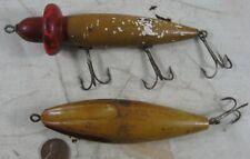 2 Vintage 1920's Wood Fishing Lures
