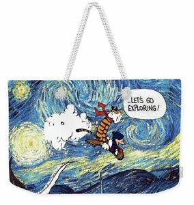 Calvin And Hobbes-Let's Go Exploring! Cartoon Tote Bag or Weekend Bag
