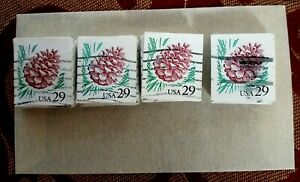 USA, SCOTT # 2491, USED LOT OF 100 PINE CONE YEAR 1993 STAMPS IN GOOD CONDITION