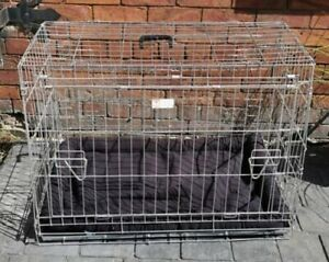 DOGHEALTH METAL FOLDING DOG / PET CAGE TRAVEL PUPPY TRAINING SIZE LARGE