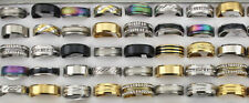 Bulk Mixed Lots 80pcs Stainless Steel Rings Rhinestone Fashion Women/MEN'S rings