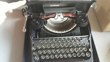 Vintage LC Smith Corona TYPEWRITER Standard Flattop Floating Shift Black Case