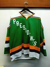 """EUC Men's Athletic Knit Slap Shot """"Presidents"""" Team Hockey Jersey Size XL Green"""