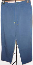 HASTING & SMITH PETITES PANTS SOLID BLUE SIZE PM RETAIL $19.97     NS
