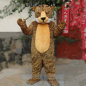 Halloween Cartoon Brown Leopard Cosplay Mascot Costume Party Game Dress Xmas
