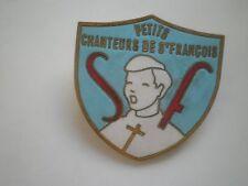 Chanteurs de Français French singers society badge FRANCE SF CROSS Church Choir