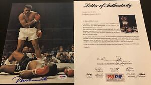 Muhammad Ali signed auto PSA DNA 8x10 photo Liston Cassius Clay HOF autographed