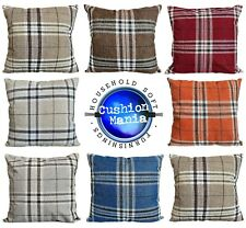 Cushions Tartan Checks Cushions + Covers or Covers Scatter sofa 6 vibrant Colors