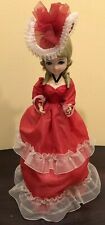 """Vintage 1960's Turning Doll Reuge Swiss Music Box Beautiful Face & Outfit 13"""""""
