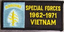 Embroidered Military Patch Vietnam Tour Special Forces Airborne badge NEW light