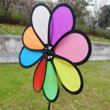 Kunststoff bunte Windmühle Windrad Wind Spinner Outdoor Garten Dekor 30 cm