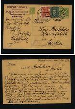 Czechoslovakia  uprated postal card to Germany 1926   HC0324