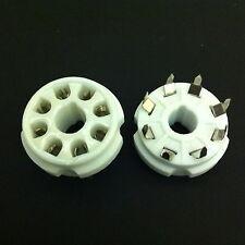 8 pin octall pcb mount trou rond en céramique valve tubes socket pour 6L6G, etc.