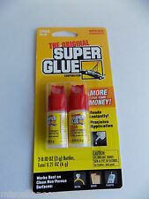 The original Super Glue / 2 Pack .20 oz(6g) / $.49 Cents on shipping if Combined