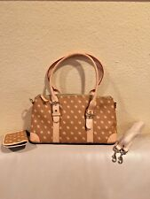 Dooney & Brooke Logo Brown and Tan leather Purse.w/Eye Glass Case
