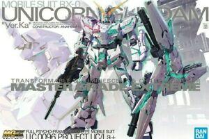 Unicorn Gundam Ver.ka Mgex Gunpla Master Grade Extreme Model Kit W/ LED Bandai