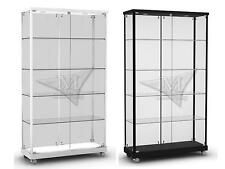 new upright glass display cabinet for sale full led flat packed for freight
