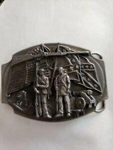 1988 Siskiyou Belt Buckle Vintage Civil War