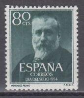 AÑO 1954 EDIFIL 1142 MARCELINO MENENDEZ MNH NUEVO SIN FIJASELLOS SPAIN