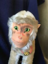 """Vintage Steiff Mohair/Wool """"Coco"""" Monkey / Baboon 8"""" w/neck tag early 1960's"""