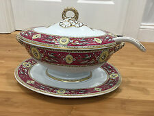 Antique Ridgway Sparks Ridgways Chelsea Pattern Large Soup Tureen Platter Ladle