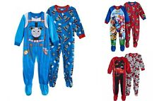 Boy Character Fleece Footed Pajamas 2-Pack Thomas Train Engine size 2T