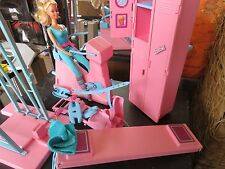 Vintage 1984 Barbie Workout Center Gym Playset WITH BARBIE