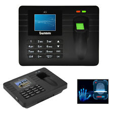 "A5 2.4""Biometric Fingerprint ID Card Time Clocks Attendance Punch Machine- Black"