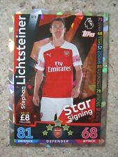Match Attax 2018/19 Star Signing card - Stephan Lichtsteiner of Arsenal