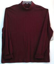 2XL/XXL Men's Legacy Turtleneck Pullover Shirt-St. Johns Bay-Autumn Burgundy-NWT