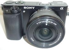 Sony Alpha a6000 24.3 MP Digital Camera - Black (Kit w/ E PZ OSS 16-50mm NEW