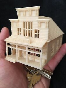 N Scale Miniature Wood Color Old West Frontier General Store Built 1:160