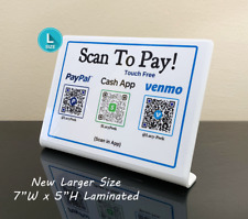 Qr Code Customer Payment Sign For Venmo Cash App Paypal Zelle Apple Pay